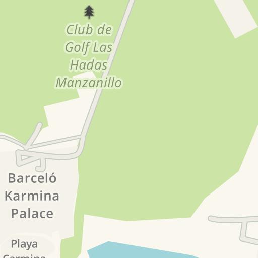 Waze Livemap Driving Directions To El Hoyo 19 Manzanillo Mexico