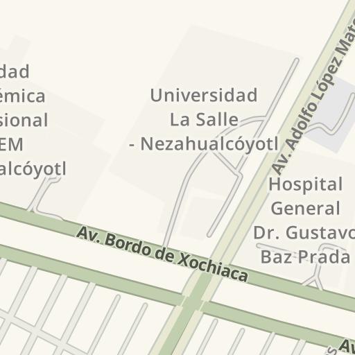 Nezahualcoyotl Mexico Map.Waze Livemap Driving Directions To Cedepan Nezahualcoyotl Mexico