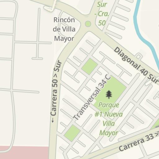 Waze Livemap - Cómo llegar a Surtimax Santa Rita, Bogota