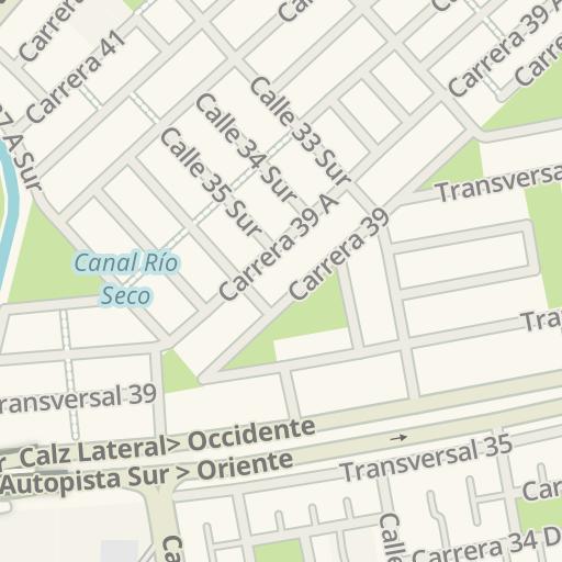 Waze Livemap - Cómo llegar a Surtimax Santa Rita, Bogota, Colombia