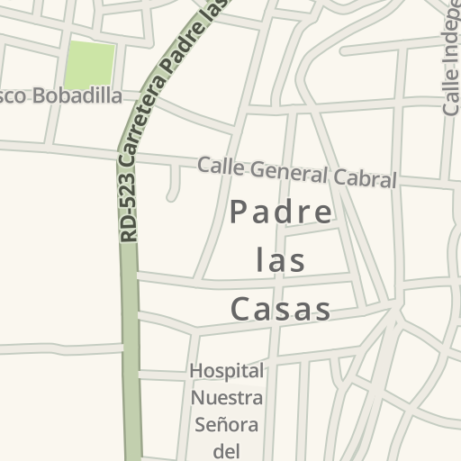 Driving Directions to Caribe Express, Padre las Casas