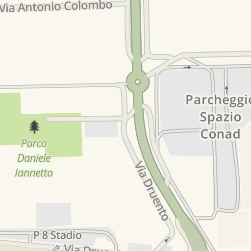 Juventus Italy Map.Waze Livemap Driving Directions To P6 Juventus Stadium Torino Italy