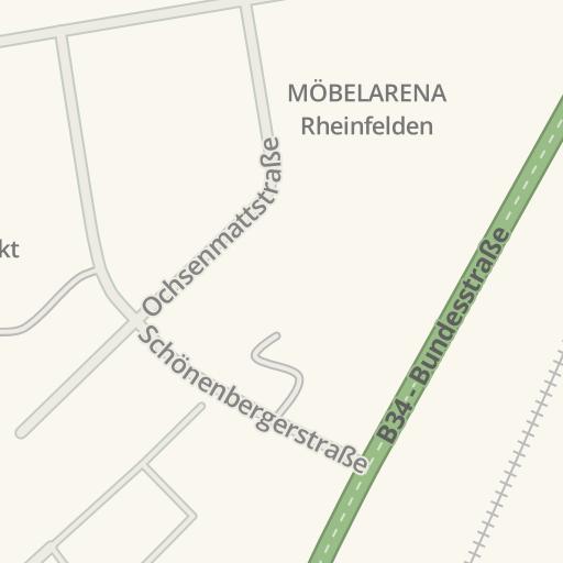 Waze Livemap Driving Directions To Möbelarena Rheinfelden