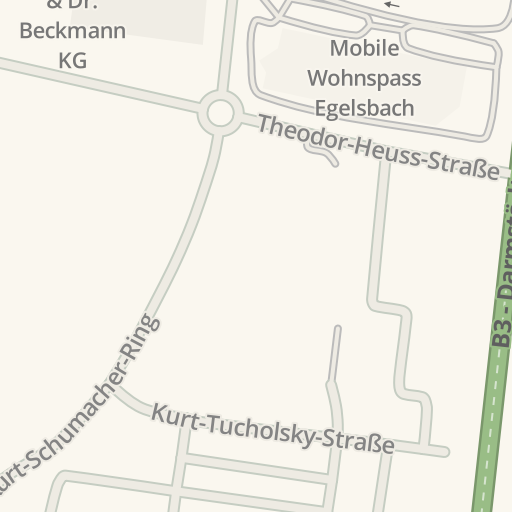 Waze Livemap Driving Directions To Mobile Wohnspass Egelsbach