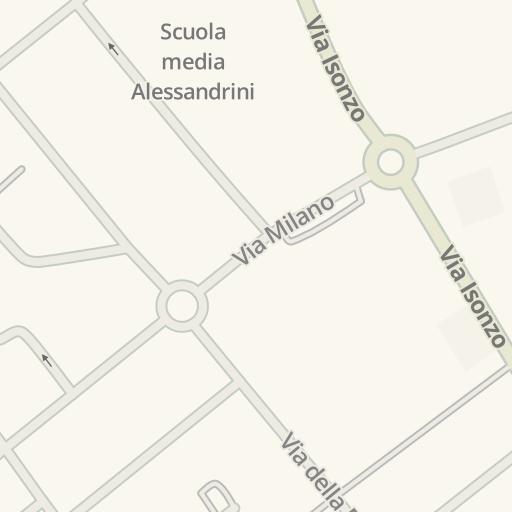 waze livemap - driving directions to banca c.r. asti, cesano boscone