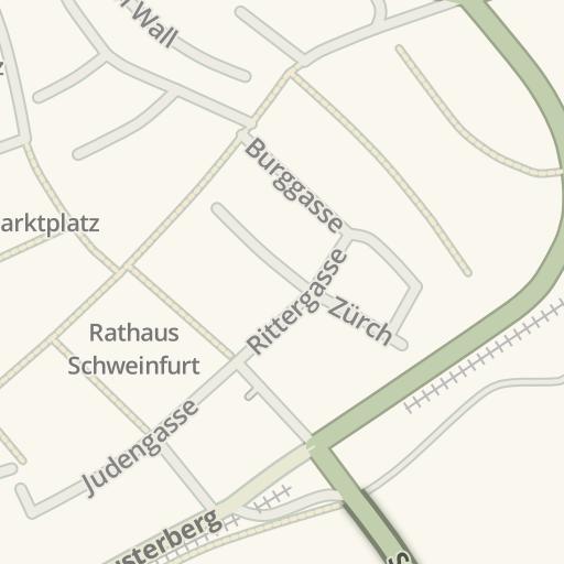 Waze Livemap Driving Directions To Tiefgarage Museum Schweinfurt