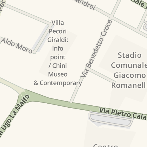 Juventus Italy Map.Waze Livemap Driving Directions To A S D Fortis Juventus 1909
