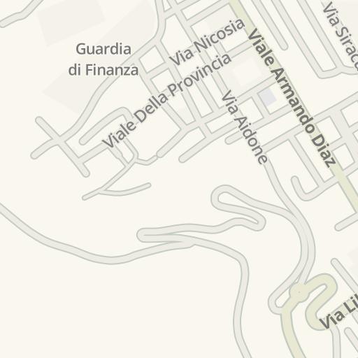 Waze Livemap Driving Directions To Guardia Di Finanza Enna Italy