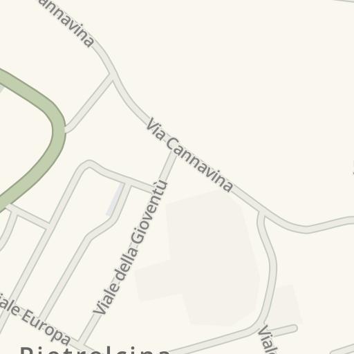 Waze Livemap Driving Directions To Municipio Di Pietrelcina