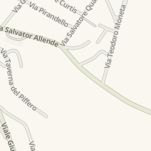 Waze Livemap Driving Directions To La Taverna Del Piffero Mottola