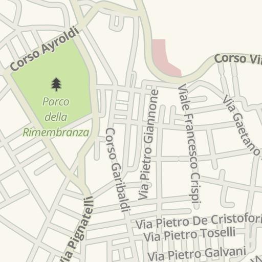 Waze Livemap Driving Directions To Parcheggio Via Antonio Specchia