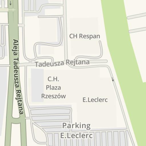 Waze Livemap Driving Directions To Parking Rzeszow Poland