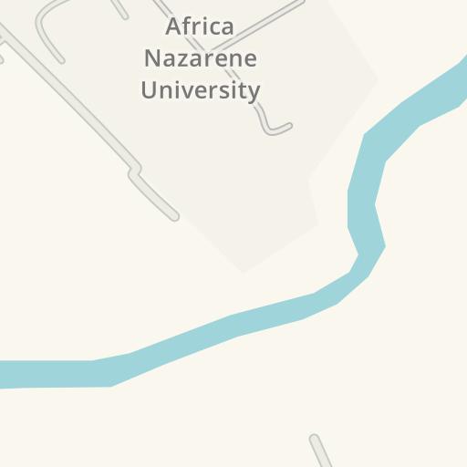 Driving Directions to Africa Nazarene University, Ongata Rongai