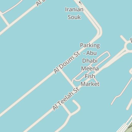 Waze Livemap - Driving Directions to Iranian Souk, Abu Dhabi أبوظبي