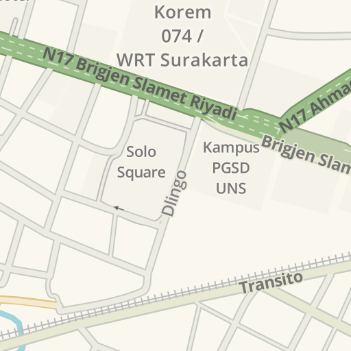 Driving Directions to Fedex Solo, Surakarta, Indonesia   Waze
