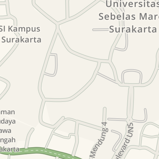 Waze Livemap - Driving Directions to FE UNS, Surakarta, Indonesia
