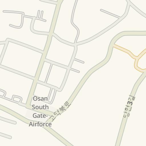 Osan South Korea Map.Waze Livemap Driving Directions To Osan Rokaf Gate Osan Air Base