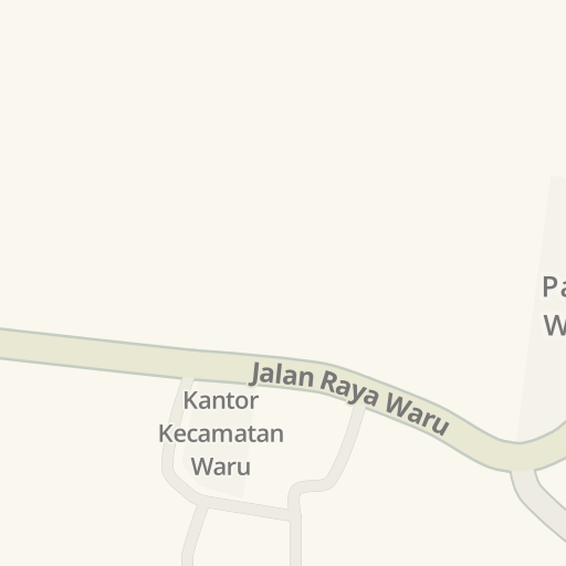 Petunjuk Arah Berkendara Ke Kantor Kecamatan Waru Jalan Raya Waru Waru Pamekasan Waze