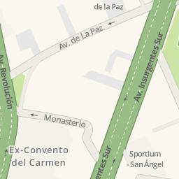 Driving directions to Bayn San Angel Delegacin lvaro Obregn